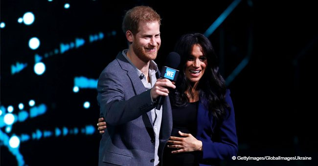 Prince Harry Surprises Crowd after 'Dragging' Pregnant Wife Meghan Markle on Stage at Youth Event