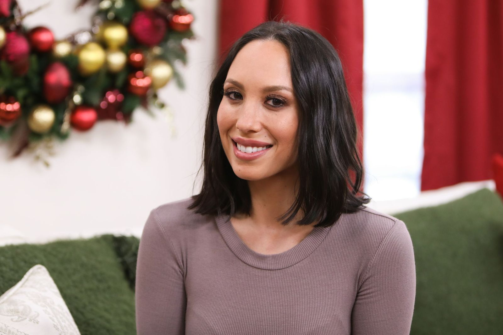 """Cheryl Burke visits Hallmark's """"Home & Family"""" at Universal Studios Hollywood on October 26, 2018, in Universal City, California 