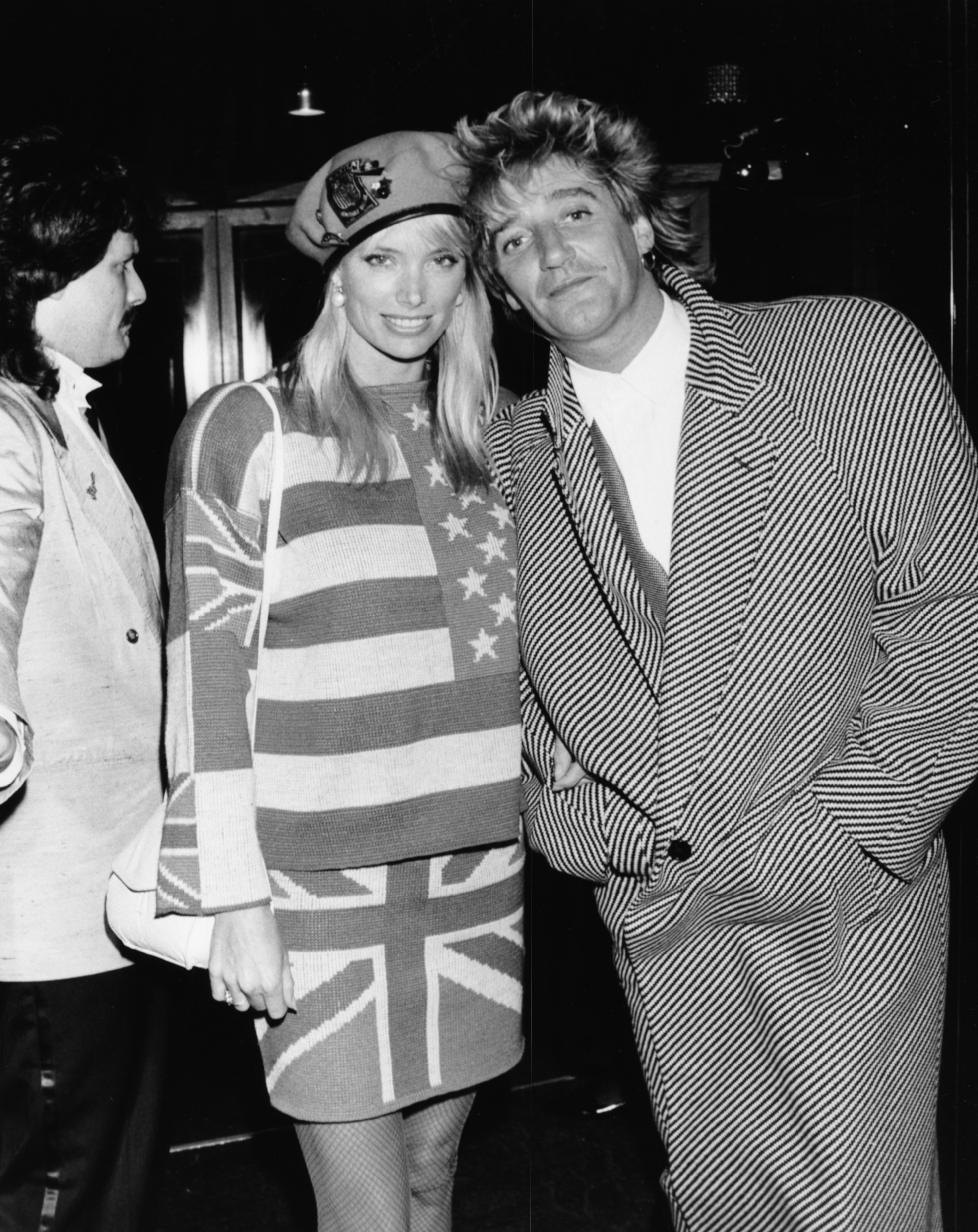 Rod Stewart and model Kelly Emberg at Stringfellows nightclub in London, September 18th 1986 | Photo: GettyImages