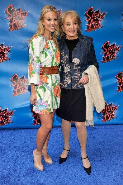 Elisabeth Hasselbeck and Barbara Walters attend the Broadway opening night of 'Sister Act' at the Broadway Theatre on April 20, 2011, in New York City. | Source: Getty Images