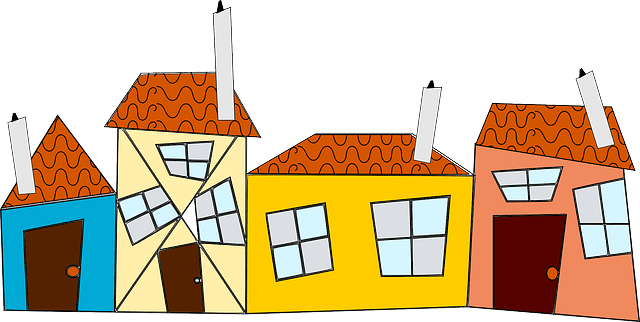 Cartoon photo of houses | Photo: Pixabay