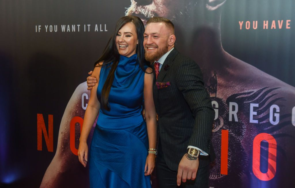 """Conor McGregor and Dee Devlin at the """"Conor McGregor Notorious"""" film premiere in 2017 in Dublin 