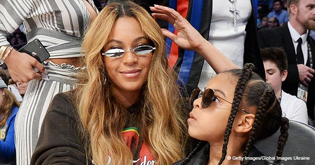Blue Ivy stylishly matches mom Beyoncé in pink sweatshirt & stylish cat-eye shades at recent event