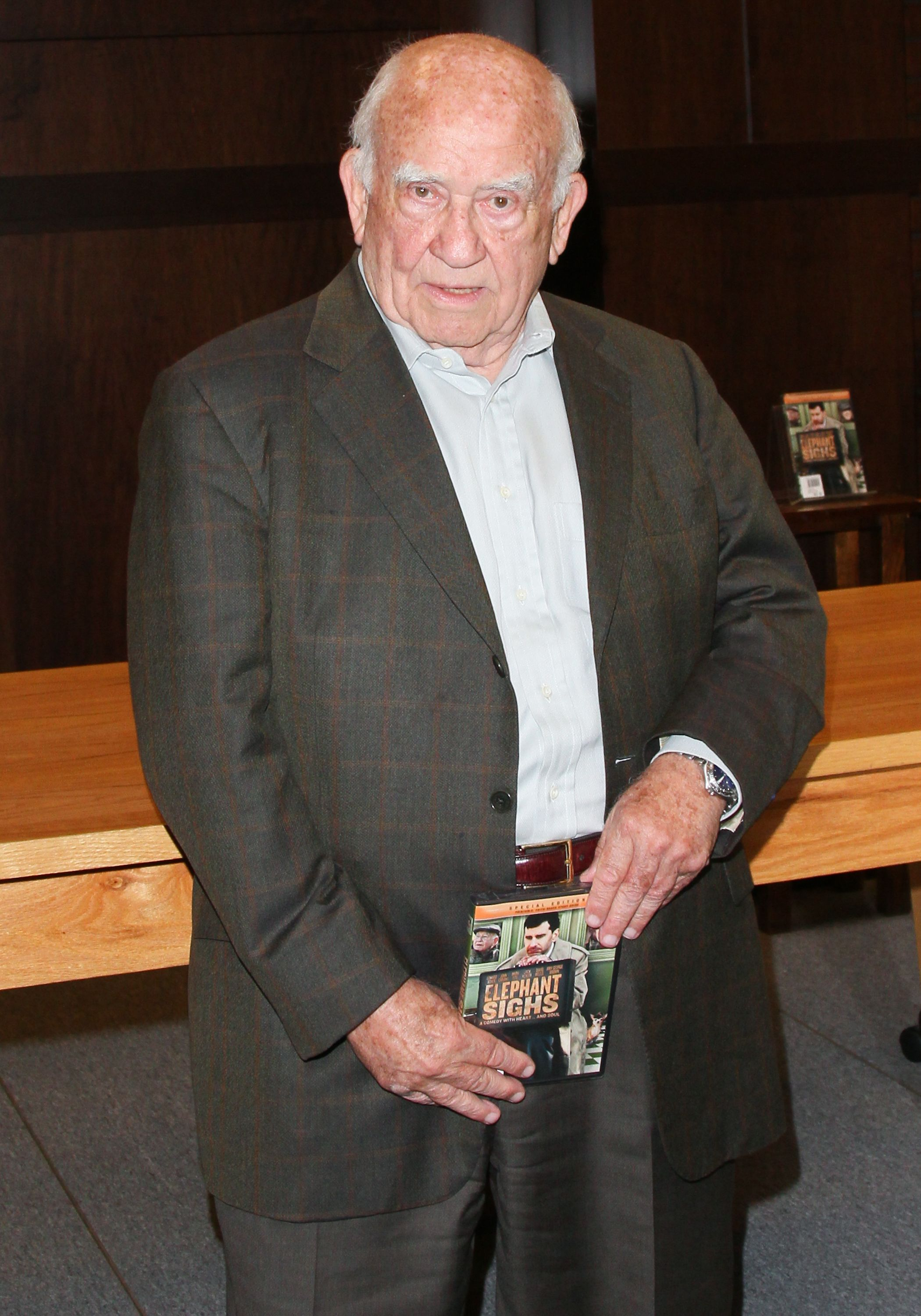 """Ed Asner at the DVD signing for """"Elephant Sighs"""" at Barnes & Noble bookstore on June 12, 2012, in Los Angeles, California 