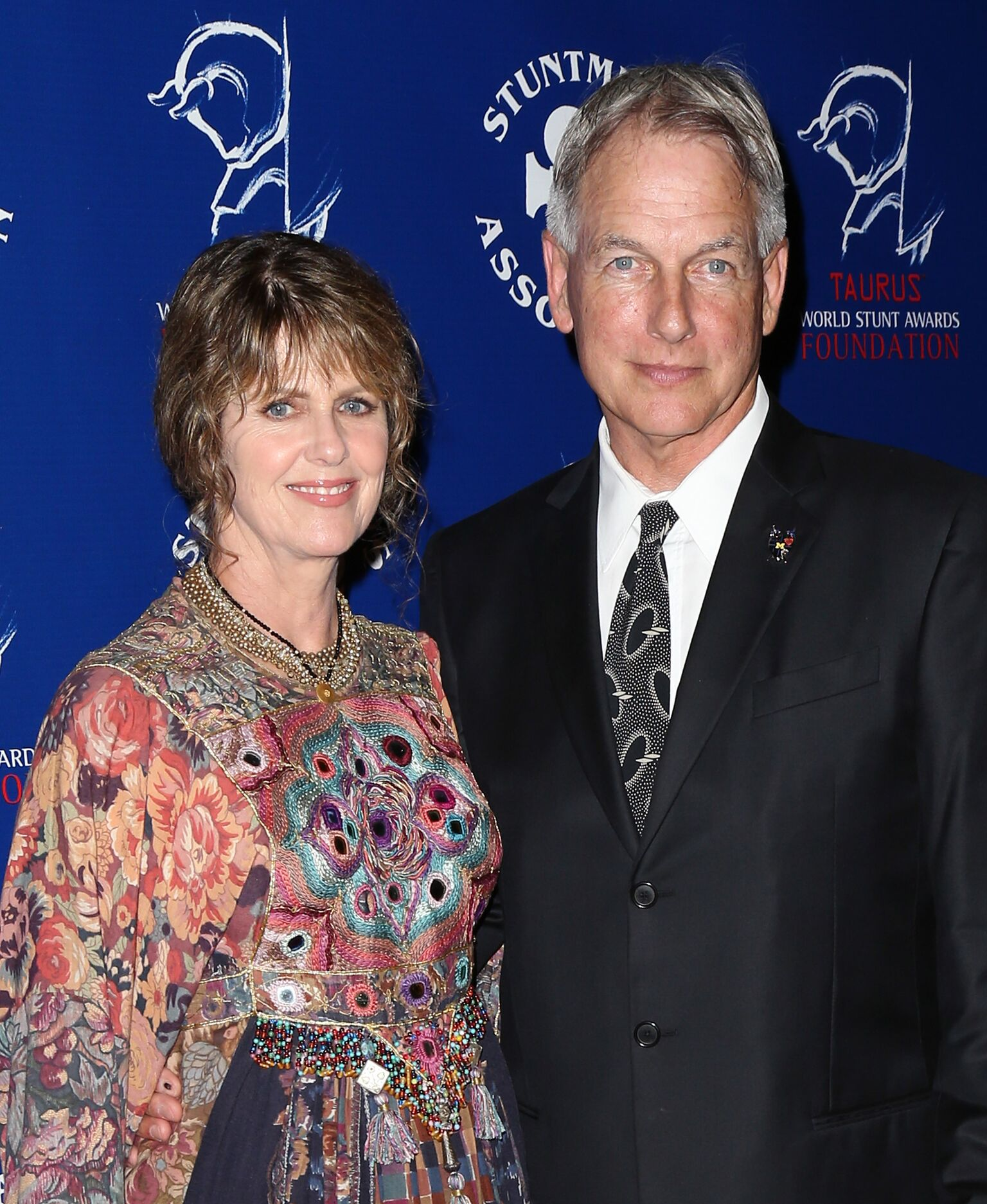 Pam Dawber and Mark Harmon at the Stuntmen's Association of Motion Pictures 52nd Annual Awards Dinner | Source: Getty Images