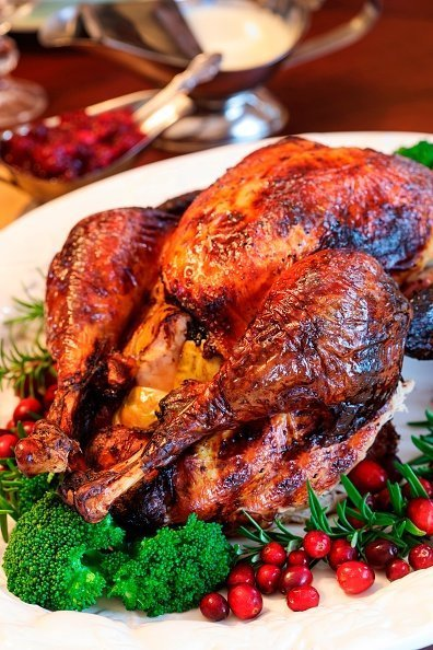 Roasted Thanksgiving Day Turkey on the holiday table | Photo: Getty Images