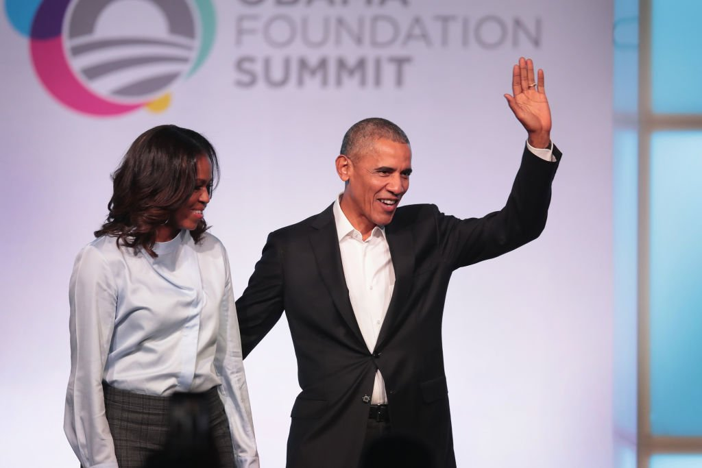 Former first Lady Michelle and former president Barack Obama are introduced at the inaugural Obama Foundation Summit | Photo: Getty Images