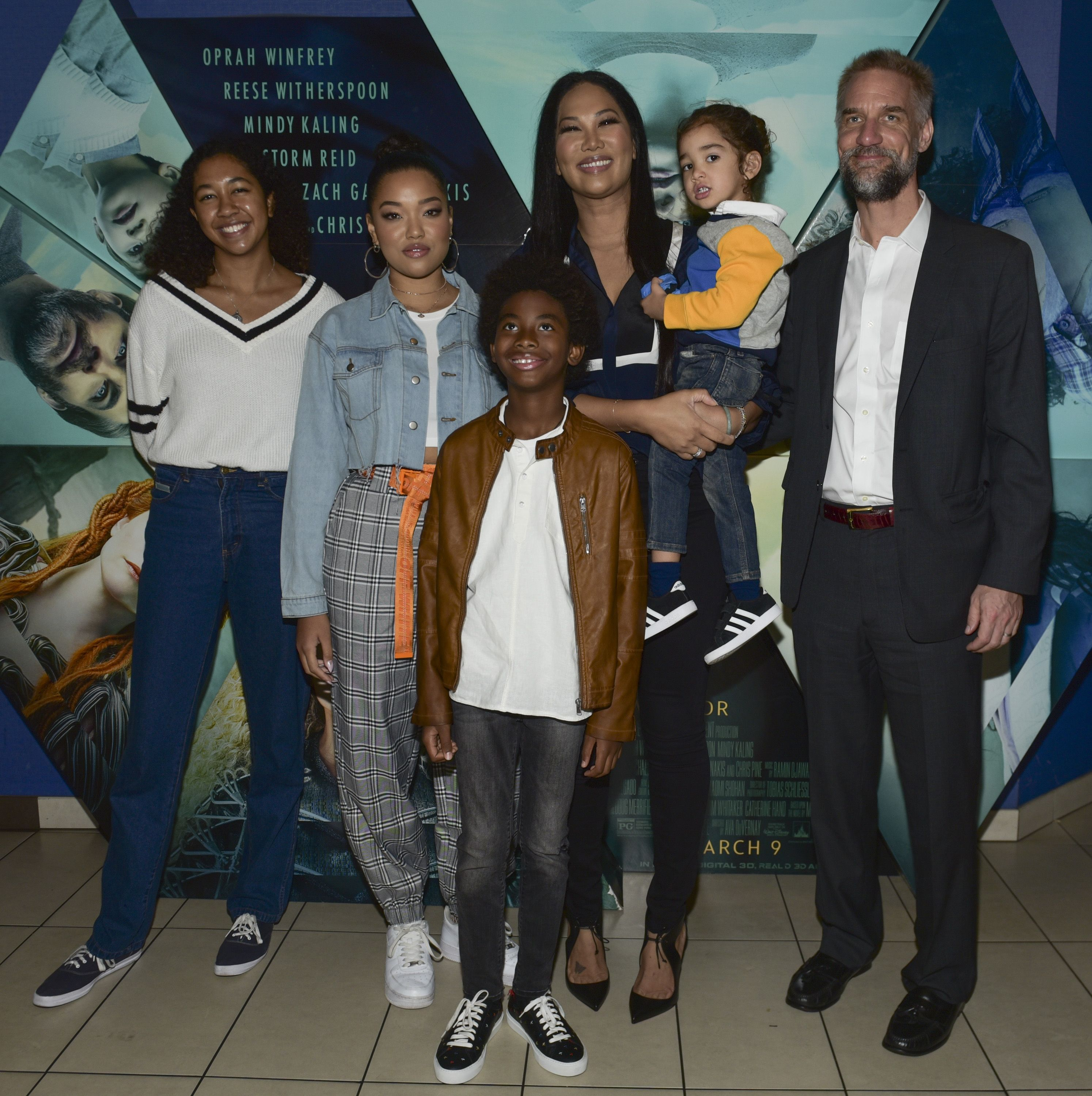 """Aoki Lee Simmons, Ming Lee Simmons, Kenzo Lee Hounsou, Wolf Lee Leissner, Kimora Lee Simmons, and Tim Leissner Host Special Screening Of """"A Wrinkle In Time""""