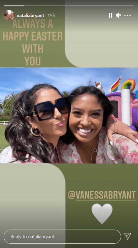 Vanessa Bryant and her daughter Natalia taking a selfie during their Easter celebration. | Photo: Instagram/nataliabryant