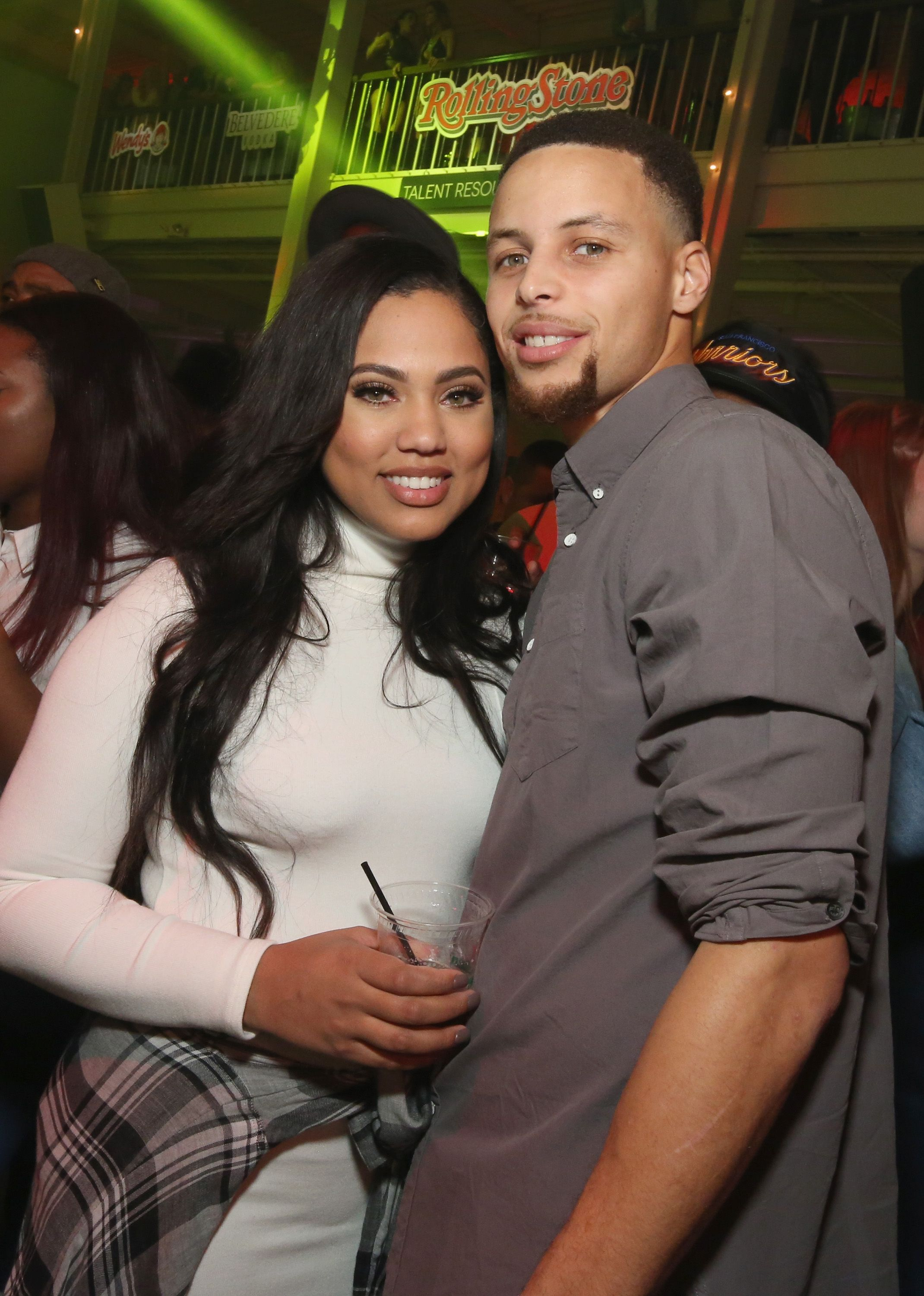 Steph and Ayesha Curry at Rolling Stone Live SF on February 7, 2016.   Photo: Getty Images