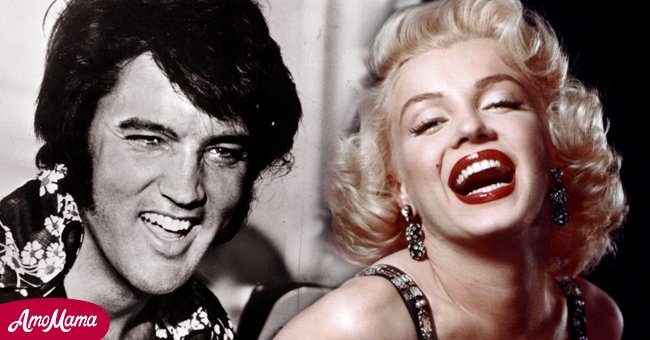 Picture of Elvis Presley and Marilyn Monroe laughing heartily   Photo: Getty Images