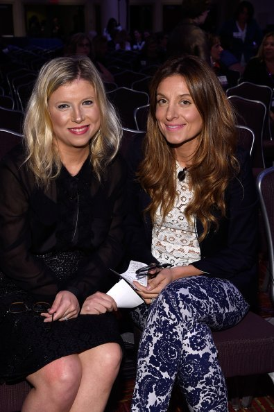 Sophie Kallinis Lamontagne and Katherine Kallinis Berman appear at the 2014 Women in Cable Telecommunications Leadership Conference on September 16, 2014, in New York City. | Source: Getty Images.