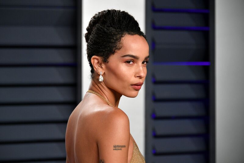 A closeup of Zoe Kravitz at a gala | Source: Getty Images/GlobalImagesUkraine