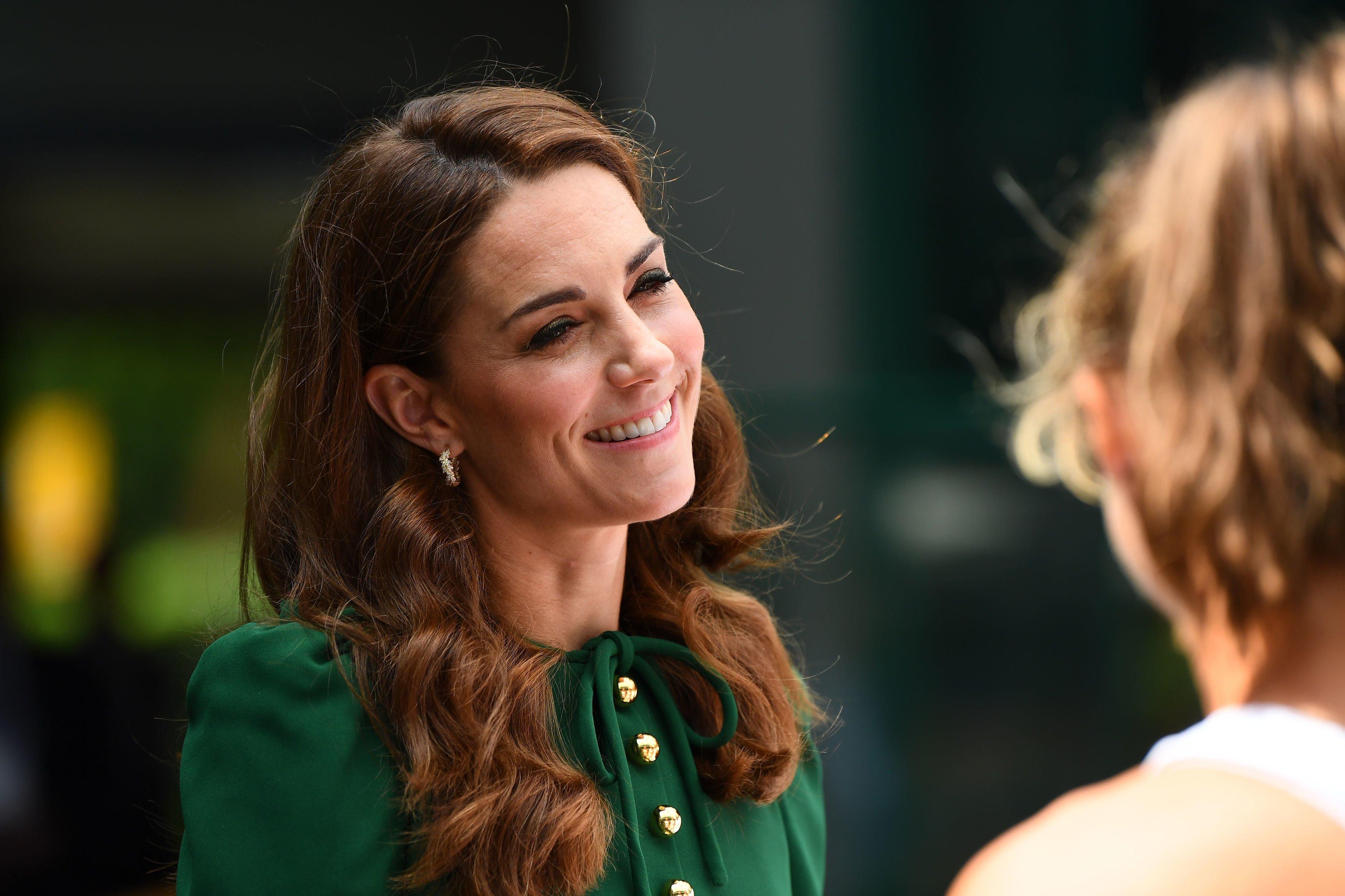 Kate Middleton à la finale du simple dames. l Source : Getty Images
