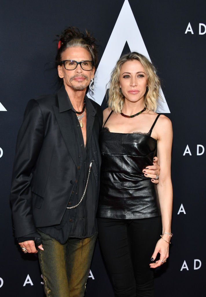 "Steven Tyler and Aimee Preston attend the premiere of 20th Century Fox's ""Ad Astra"" at The Cinerama Dome in Los Angeles 