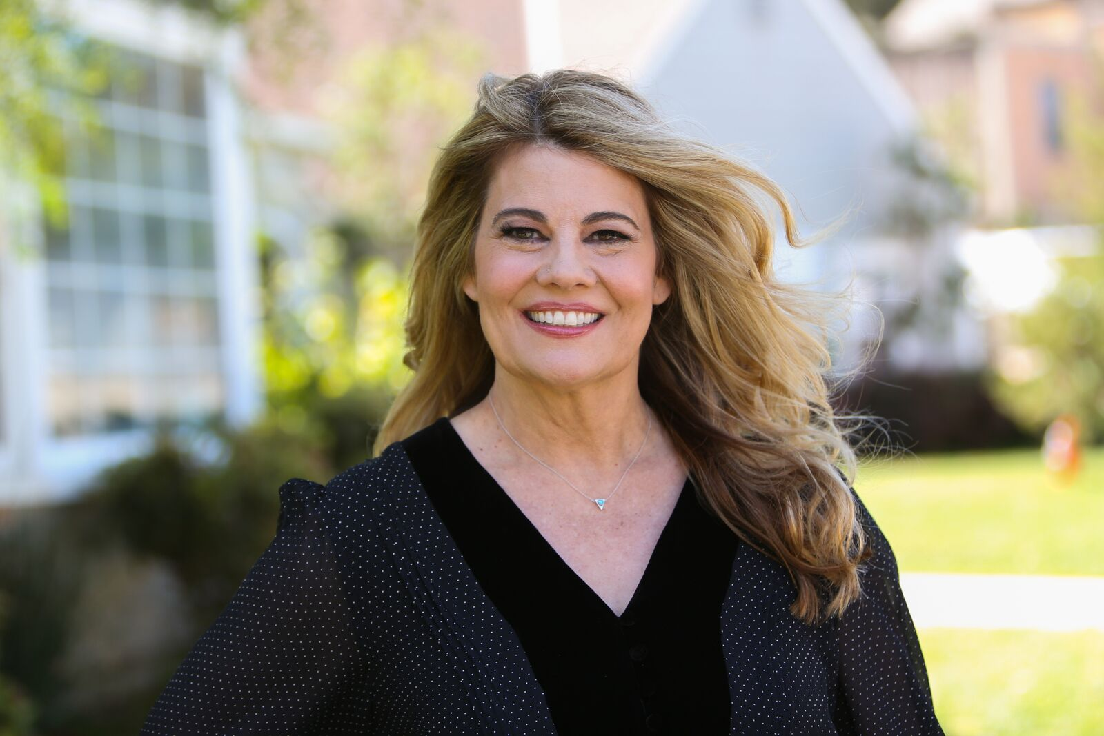 "Actress Lisa Whelchel visits Hallmark's ""Home & Family"" at Universal Studios Hollywood on April 10, 2019 in Universal City, California 