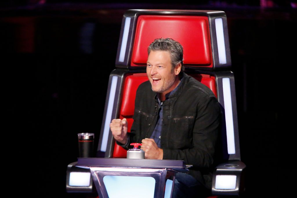 """Judge Blake Shelton during  blind auditions at """"The Voice"""" 