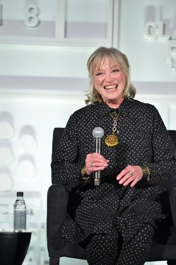 "Actor Veronica Cartwright speaks onstage at the screening of ""The Right Stuff"" 