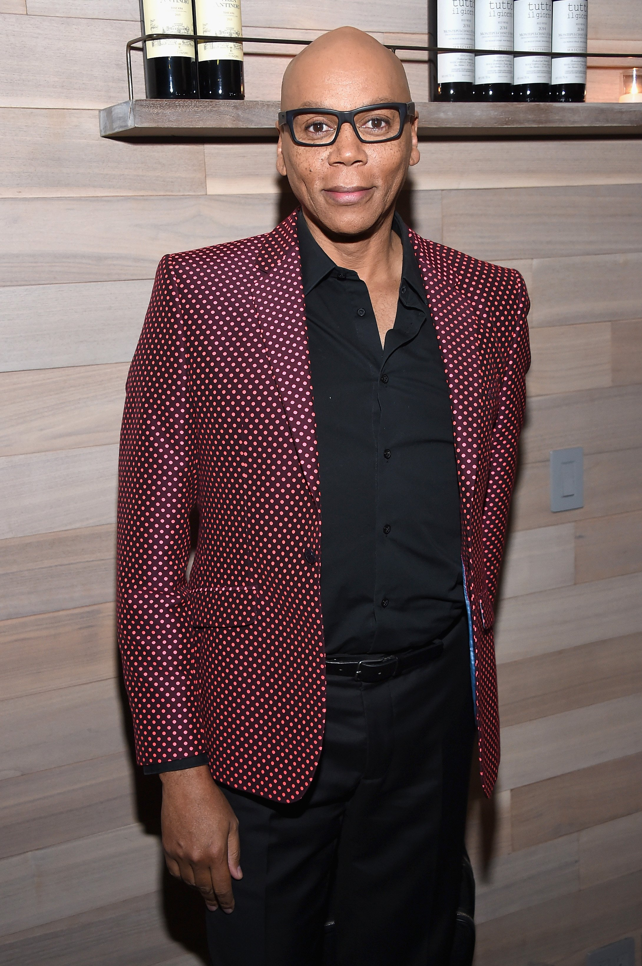 """RuPaul attends The Season 2 Premiere Of """"Shades Of Blue"""" after party  on March 1, 2017 in New York City. 