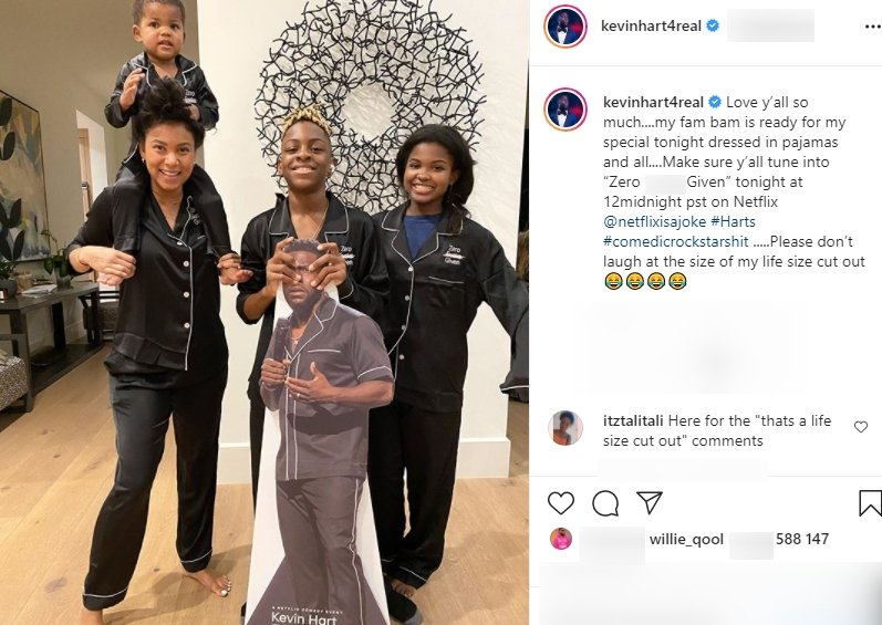 Kevin Hart's family cheers him on as he launches his new movie on Netflix. | Photo: Instagram/Kevinhart4real
