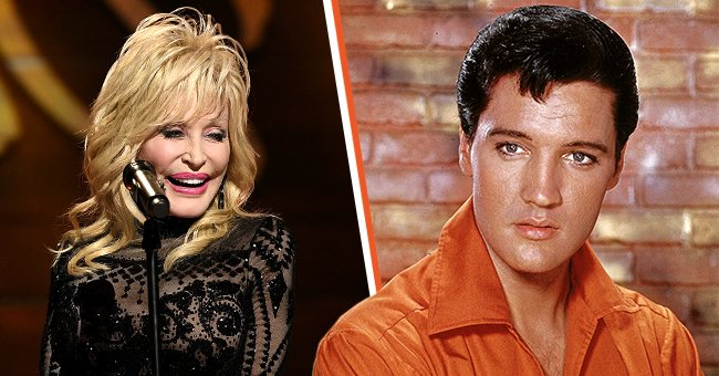 Country superstar Dolly Parton and late singer Elvis Presley, dubbed as the King of Rock and Roll.   Photo: Getty Images
