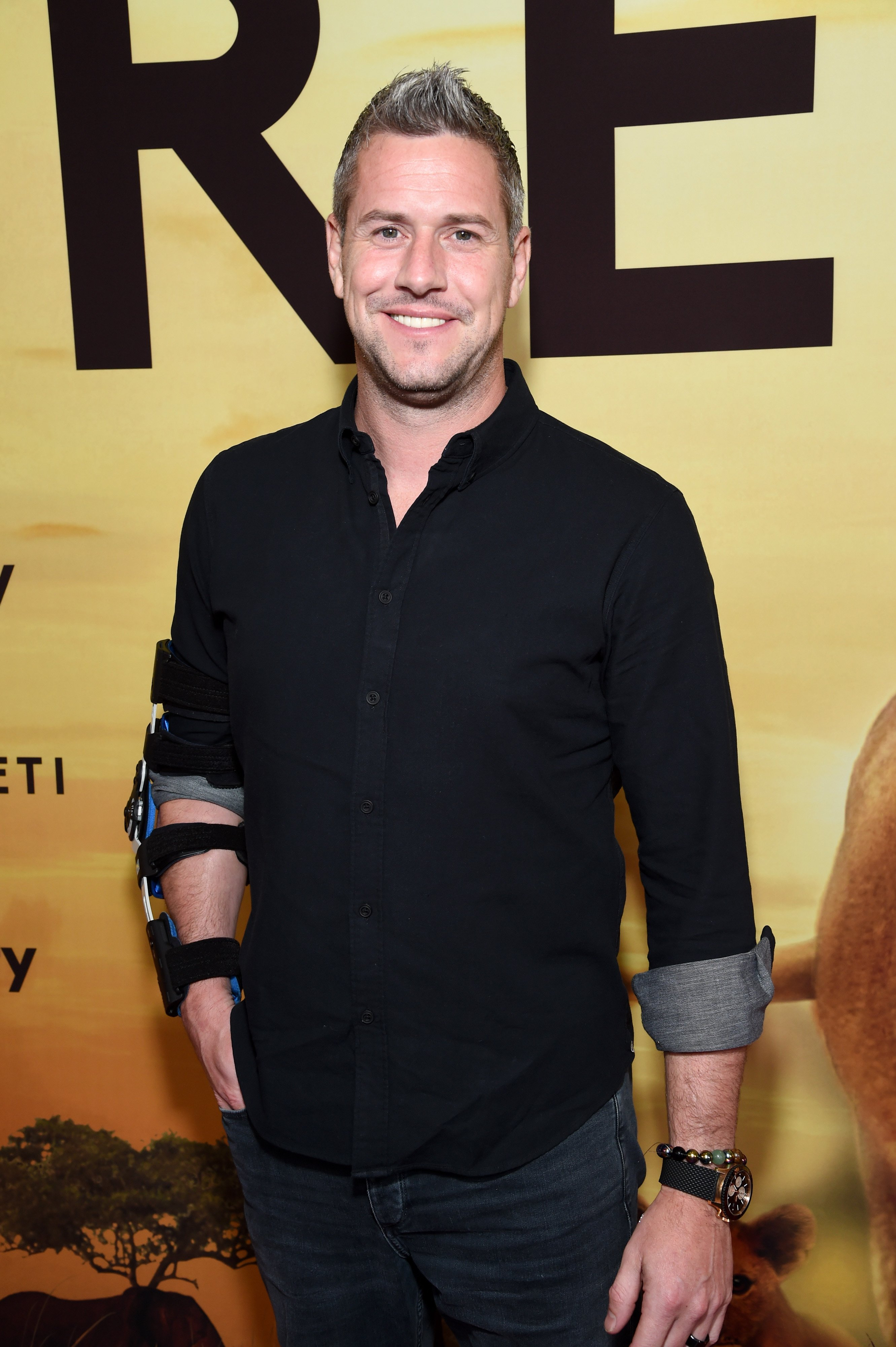 """Ant Anstead pictured attending the covery's """"Serengeti"""" premiere at Wallis Annenberg Center, 2019. 