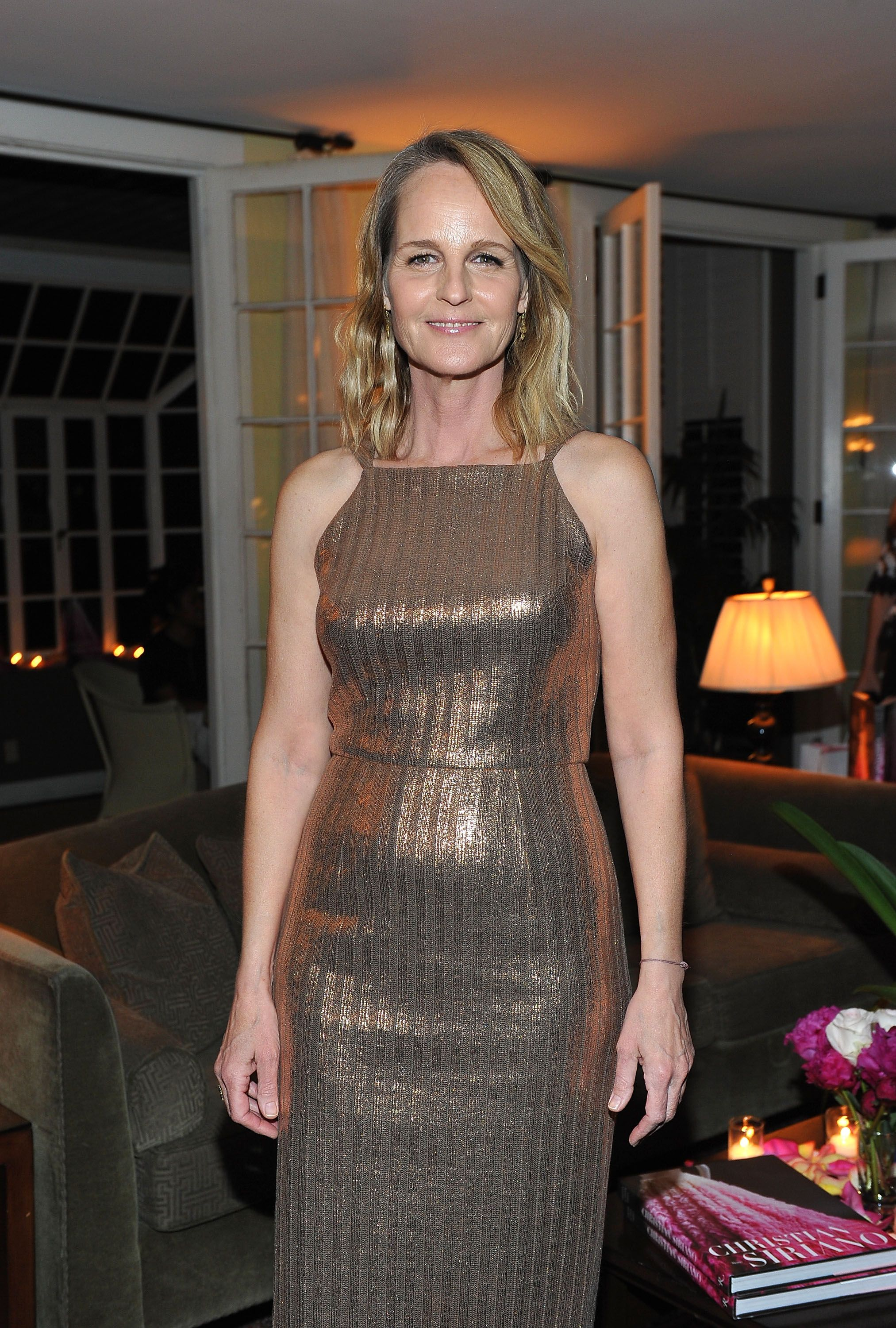 """Helen Hunt at Christian Siriano's celebration of the launch of his new book """"Dresses To Dream About"""" on November 30, 2017 in Los Angeles. 