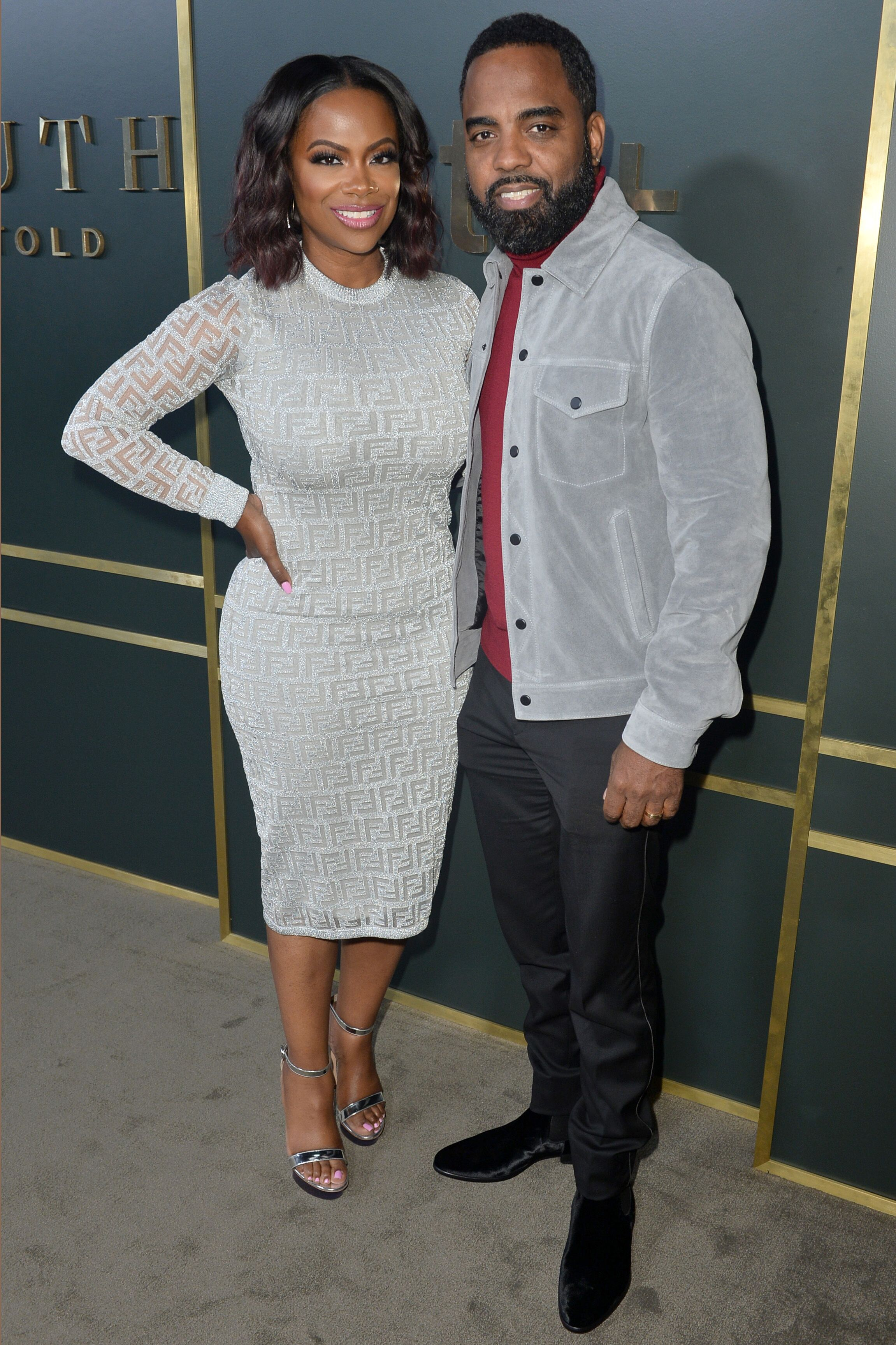 "Kandi Burruss and Todd Tucker at the premiere of Apple TV+'s ""Truth Be Told."" 