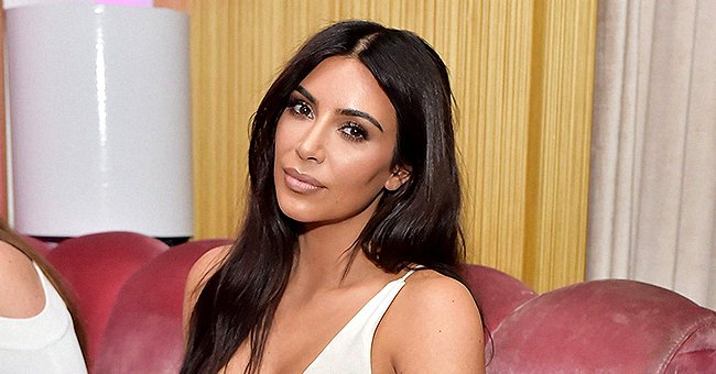 Look at Kim Kardashian's New Fiery Hair Color Amid Lockdown (Video)