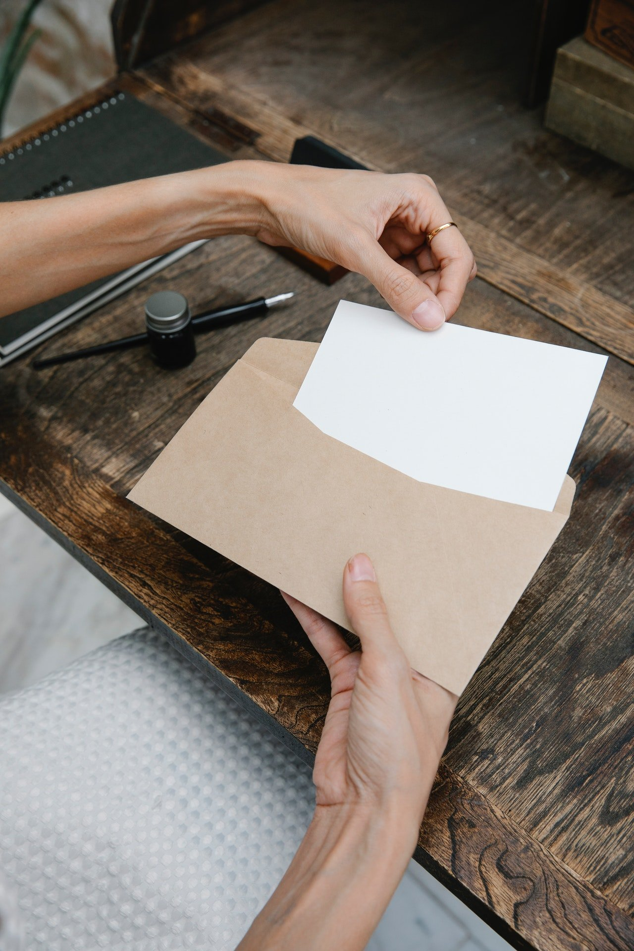 Alexa received a letter one day.   Source: Pexels