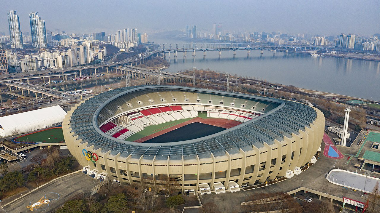 Aerial view of Olympic Stadium Seoul, South Korea | Source: Wikimedia Commons