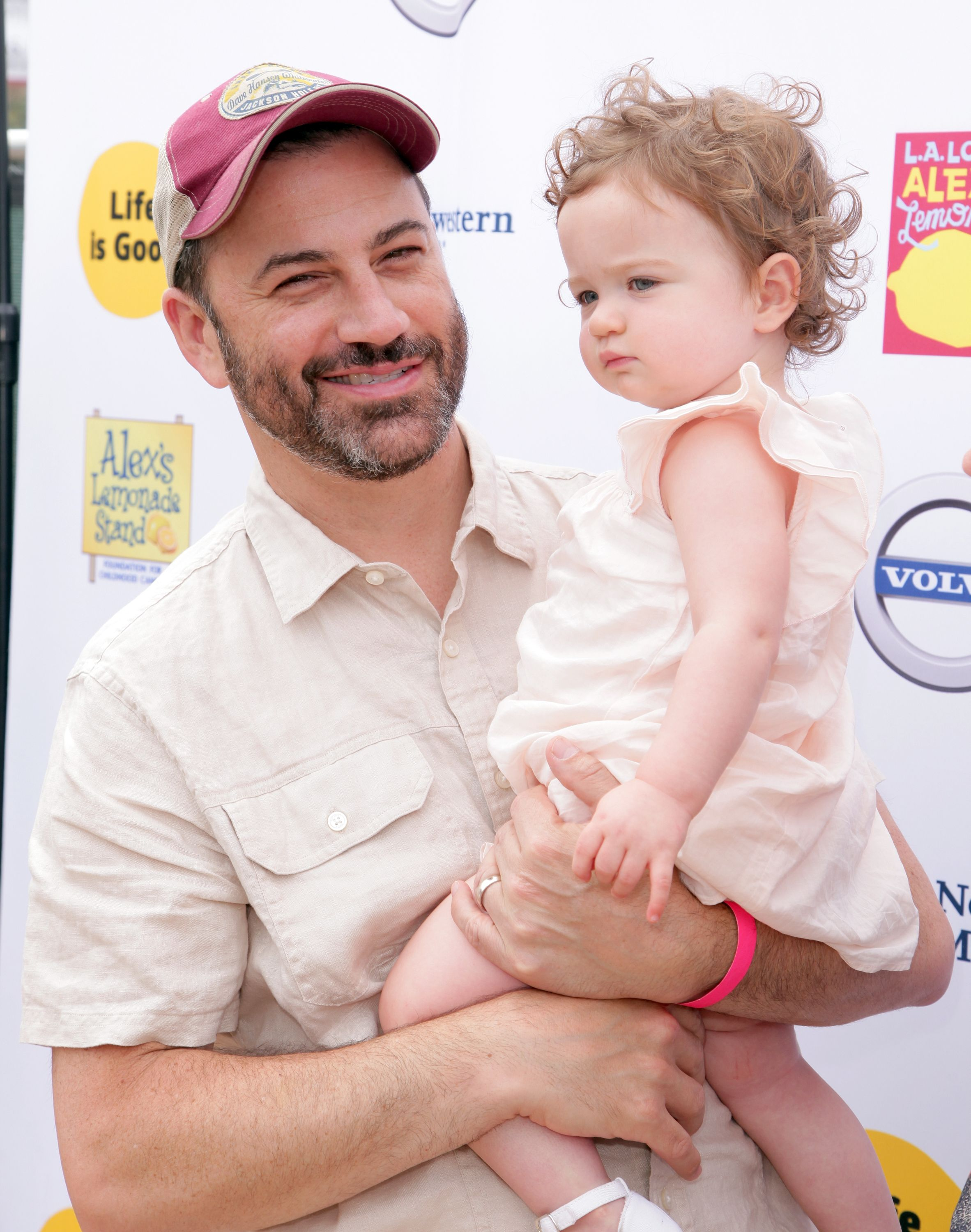 Jimmy Kimmel with daughter Jane at the Annual L.A. Loves Alex's Lemonade on September 12, 2015 in L.A   Photo: Getty Images