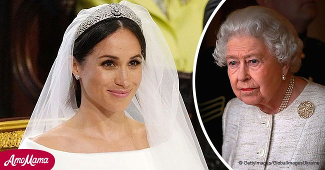 Queen reportedly was surprised with Meghan Markle's wedding dress choice