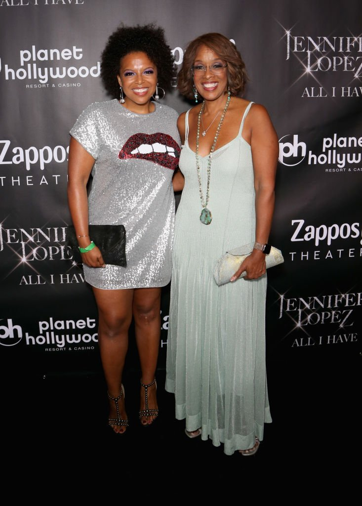 """Kirby Bumpus (L) and her mother, television personality Gayle King, attends the after party for the finale of the """"JENNIFER LOPEZ: ALL I HAVE"""" residency  