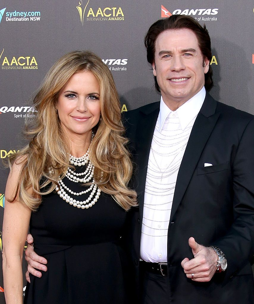 Kelly Preston and John Travolta attend the 2015 G'Day USA GALA featuring the AACTA International Awards at Hollywood Palladium on January 31, 2015 in Los Angeles, California.   Photo: Getty Images.
