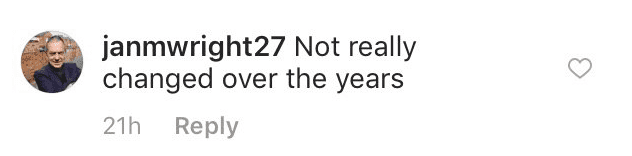 Fan comment on Roy Orbinson photo from his school days in Texas in the 1940s'. | Source: Instagram/OfficialRoyOrbinsion
