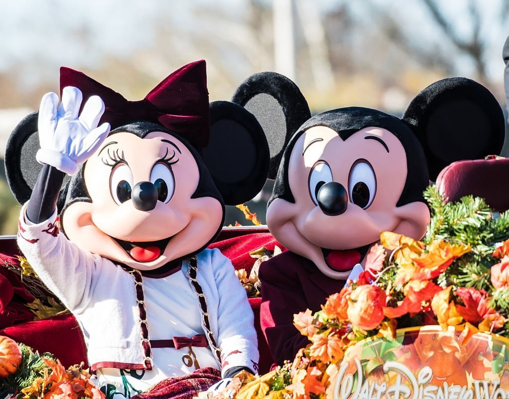 Walt Disney characters Minnie Mouse and Mickey Mouse attend the 99th Annual 6abc Dunkin' Donuts Thanksgiving Day Parade | Getty Images