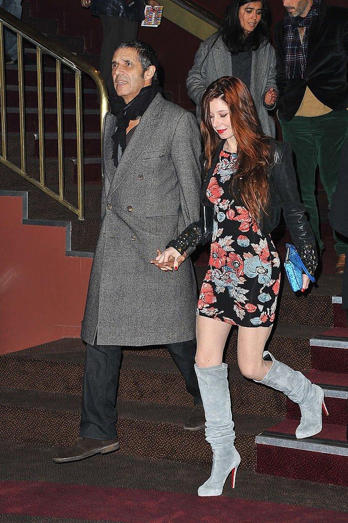 Julien Clerc et sa compagne Hélène Grémillon. l Source : Getty Images