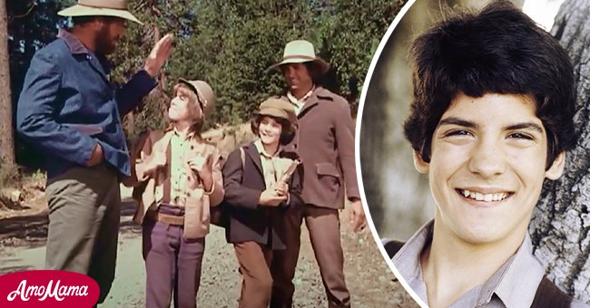 """Matthew Labyorteaux and Patrick Labyorteaux on the set of """"Little House on the Prairie"""" . Inset of Matthew Labyorteaux. Source: Youtube.com/Little House on the Prairie 