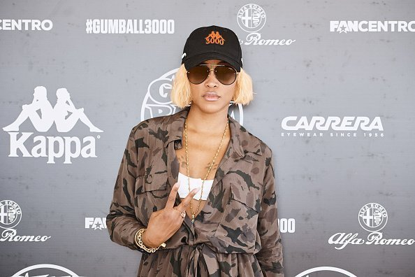 Rapper EVE in Carrera sunglasses at the registration day of Gumball 3000 MykonosvIbiza on June 7, 2019 | Photo: Getty Images