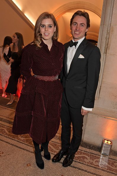 Princess Beatrice of York and Edoardo Mapelli Mozzi at The Portrait Gala 2019 on March 12, 2019 | Photo: getty Images