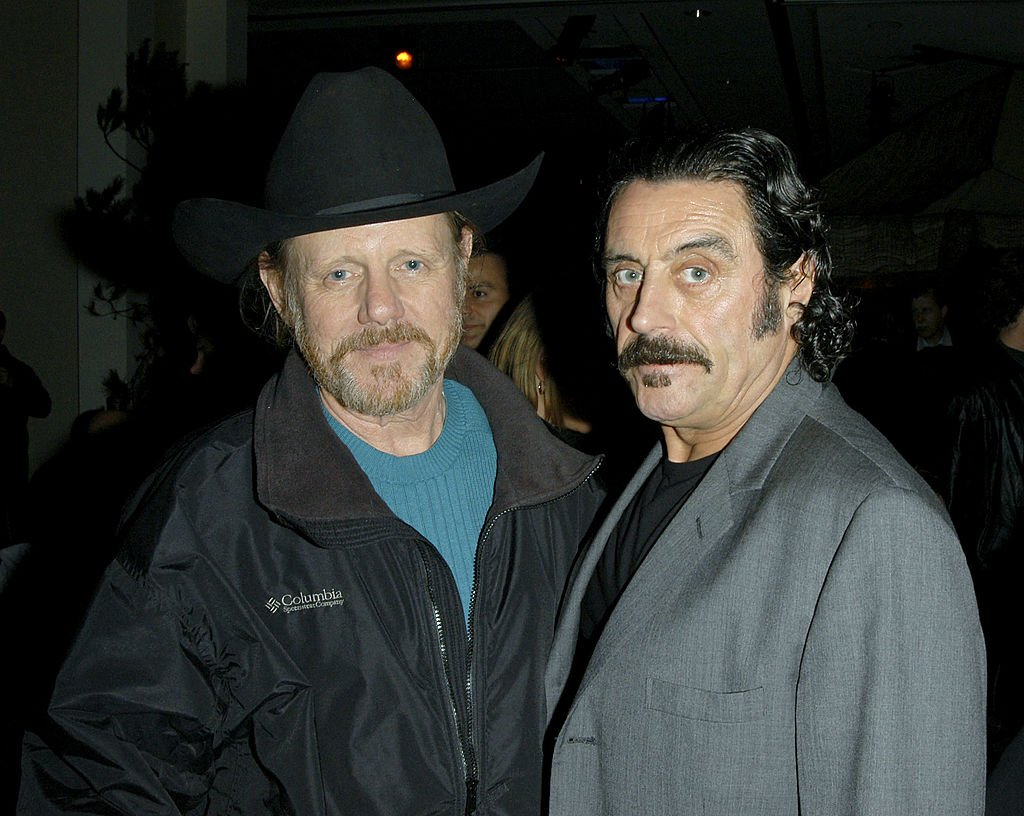 """William Sanderson and Ian McShane attend the """"Deadwood"""" premiere after party in Hollywood, California in March 2005 