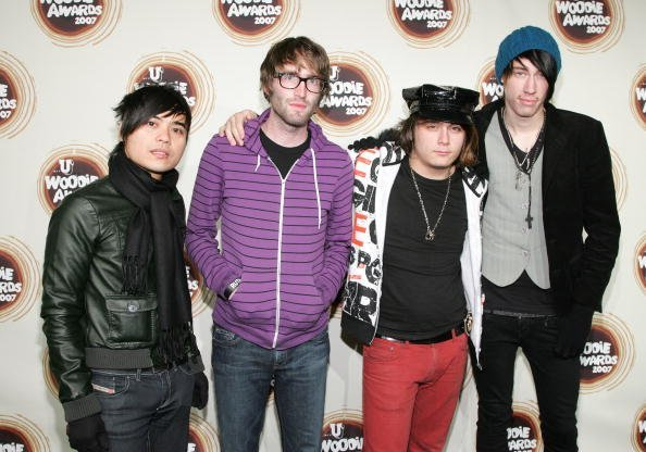 Blake Healy, Anthony Improgo, Mason Musso, Trace Cyrus of the band Metro Station attend the 2007 mtvU Woodie Awards at Roseland Ballroom November 8, 2007, in New York City. | Source: Getty Images.