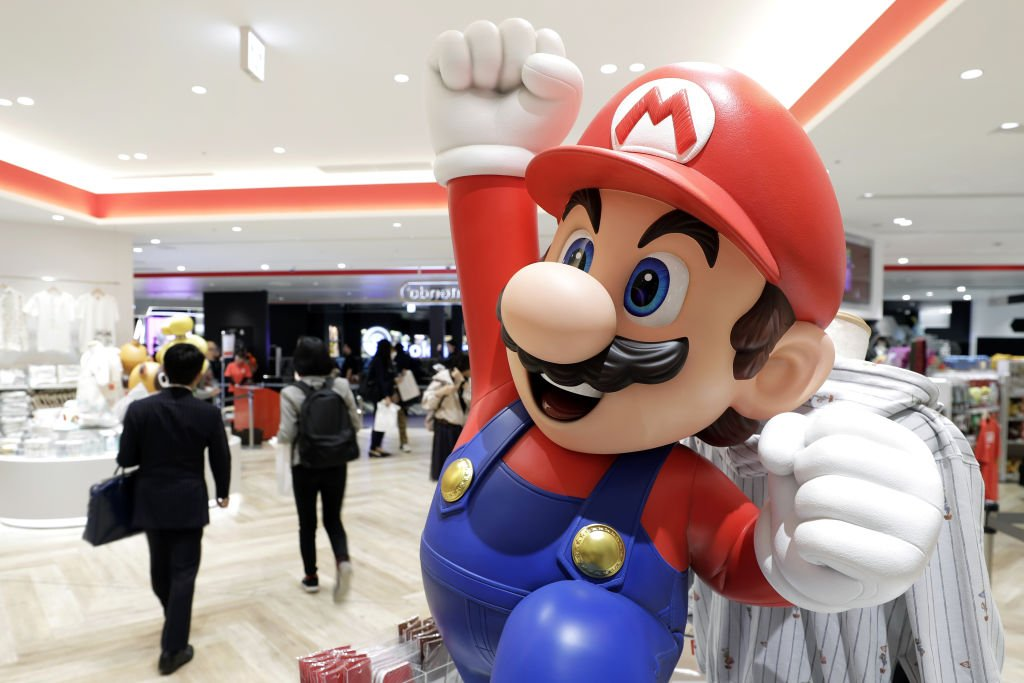 Eine Statue des Nintendo Mario-Videospiels Super Mario Brothers-Charakter Mario im Nintendo TOKYO-Laden in Tokio, Japan, am Dienstag, 19. November 2019. | Quelle: Getty Images