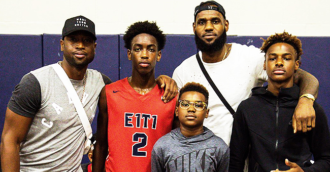 Watch Dwyane Wade & LeBron James' Sons Recreate Their Dads' Famous Alley-Oop Pass
