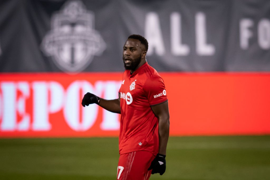 Jozy Altidore playing in the Audi 2020 Cup Playoff Conference against Nashville SC on November 24, 2020. | Photo: Getty Images