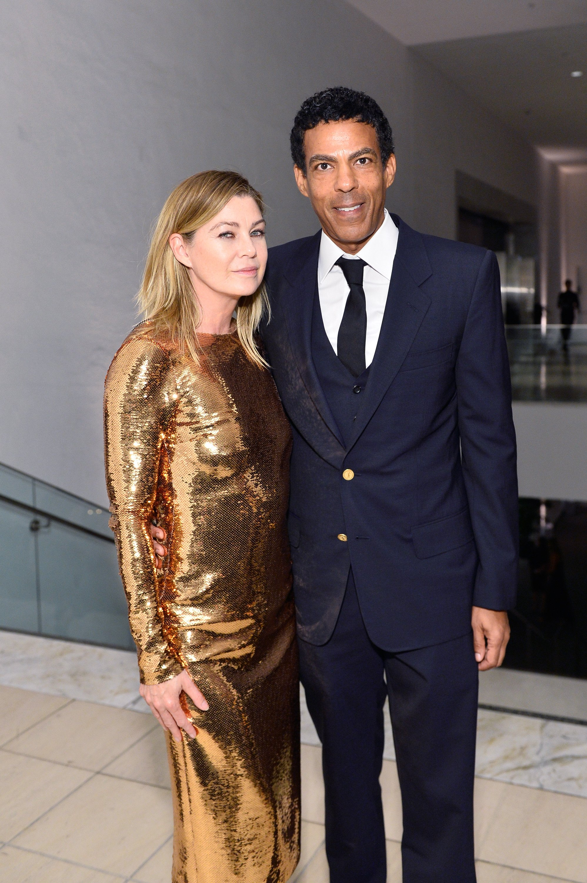 Ellen Pompeo and Chris Ivery at the Hammer Museum 15th Annual Gala on October 14, 2017, in Los Angeles, California. Source: Getty Images.