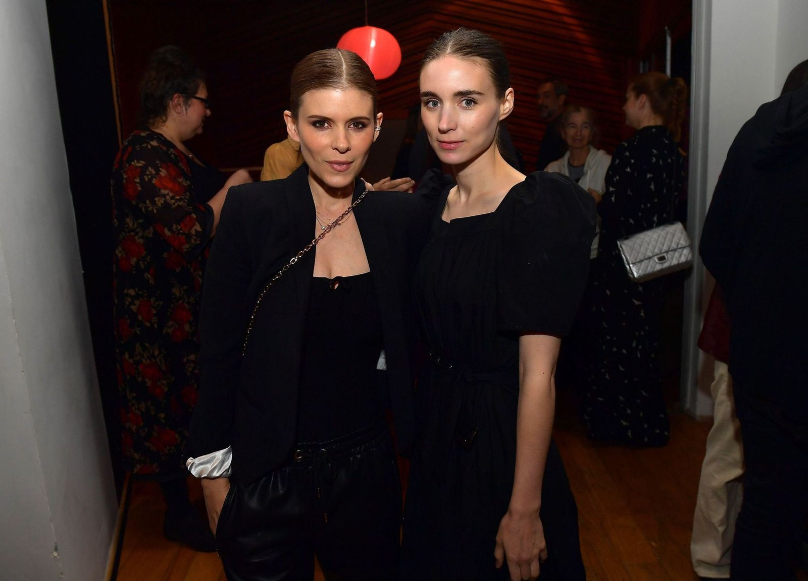 """Kate Mara and Rooney Mara at the release party to celebrate Rain Phoenix's new album """"RIVER"""", hosted by Joaquin Phoenix at Jim Henson Studios on October 28, 2019 