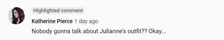 Another fan also comments on Julianne Hough's outfit | Youtube: America's Got Talent