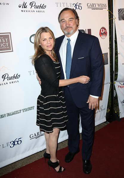 "Jim Belushi and Jennifer Sloan at the 23rd annual Veterans Holiday Celebration ""A Night For Heroes"" on November 21, 2015 in Beverly Hills, California. 